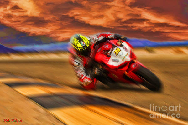 Domenic Caluori At Speed Art Print