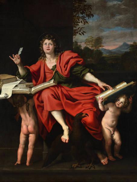 Wall Art - Painting - Domenichino Saint John, 1624-29 by Granger