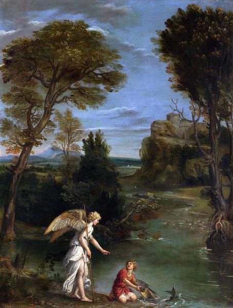 Wall Art - Painting - Domenichino Tobias, C1612 by Granger