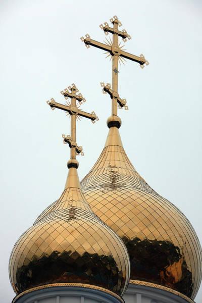 Kamchatka Photograph - Domes Of Church Of Holy Trinity by John Borthwick