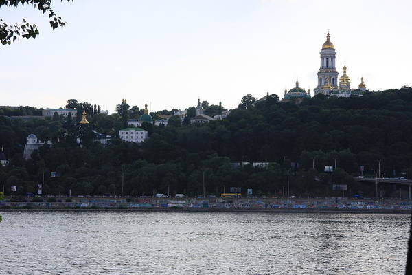 Dnieper Photograph - Domes Of Pecherskaya Lavra 2 by David Bagstad