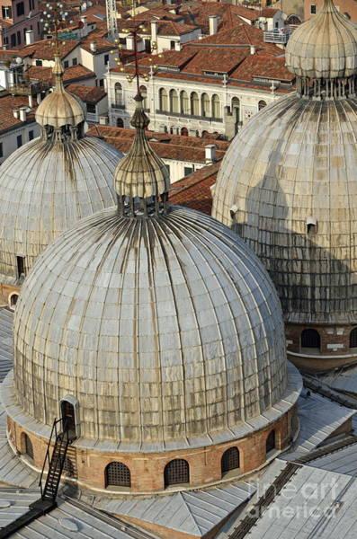 Wall Art - Photograph - Domes Of The San Marco Basilica by Sami Sarkis