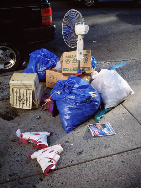 Litter Photograph - Domestic Waste by Robert Brook/science Photo Library