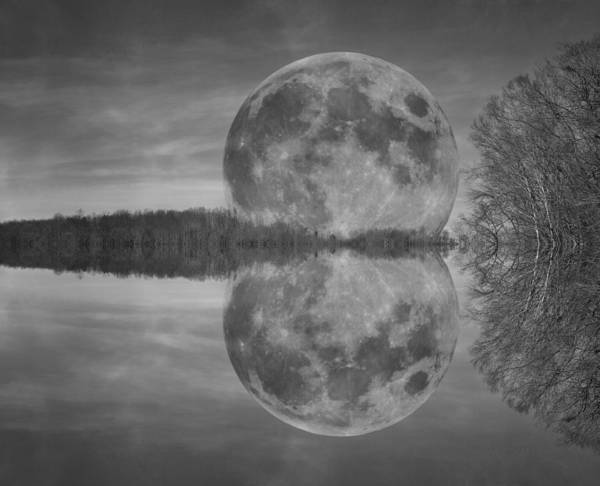 Super Moon Photograph - Dominant Forces by Betsy Knapp