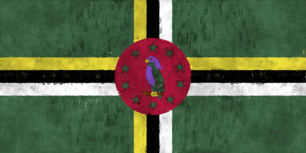 Wall Art - Digital Art - Dominica Flag by World Art Prints And Designs