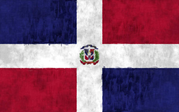 Wall Art - Digital Art - Dominican Republic Flag by World Art Prints And Designs