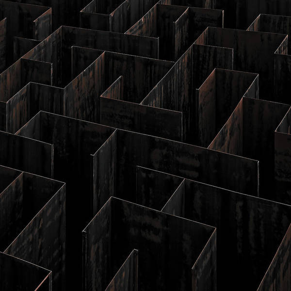 Iron Photograph - Domino Labyrinth by Gilbert Claes
