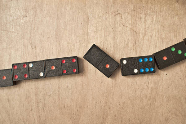 Cubic Wall Art - Photograph - Dominoes by Tom Gowanlock