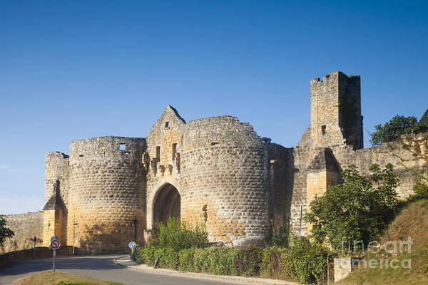 Chateau Photograph - Domme Main Gate Aquitane France by Colin and Linda McKie