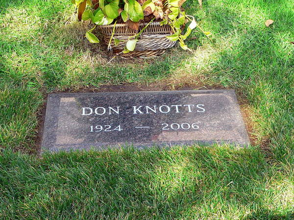 Photograph - Don Knotts Grave by Jeff Lowe