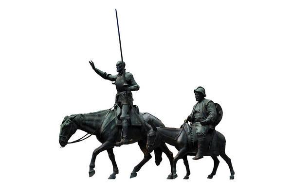 Photograph - Don Quixote And Sancho Panza  by Fabrizio Troiani
