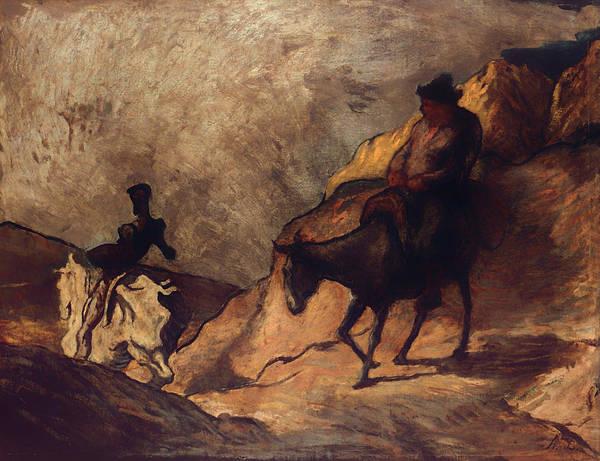 Man Of La Mancha Wall Art - Painting - Don Quixote And Sancho Panza by Mountain Dreams
