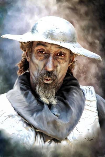 Digital Art - Don Quixote by Charlie Roman