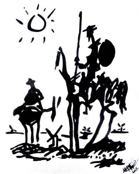 Painting - Don Quixote by Michelle Dallocchio