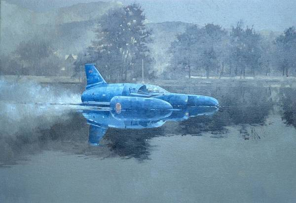 Donald Photograph - Donald Campbell And Bluebird Oil On Canvas by Peter Miller