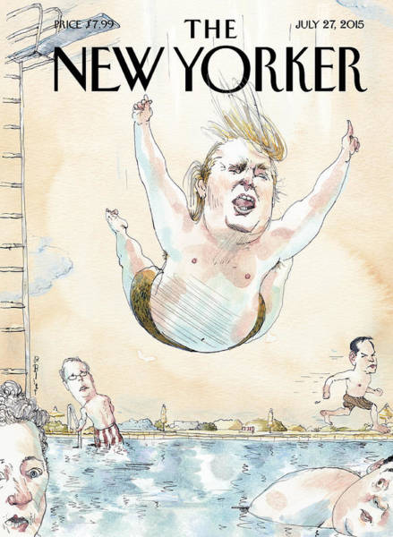 Donald Trump Painting - Belly Flop by Barry Blitt
