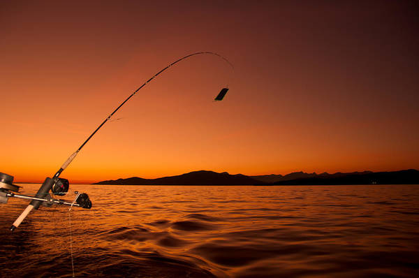 Angling Photograph - Done Fishing At Sunset by James Wheeler