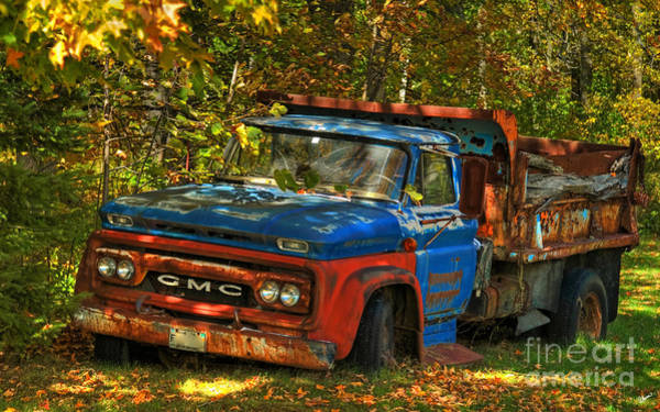 Dump Truck Photograph - Done Hauling  by Alana Ranney