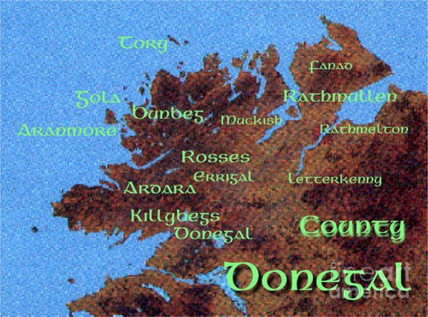 Painting -  Donegal Place Names by Val Byrne