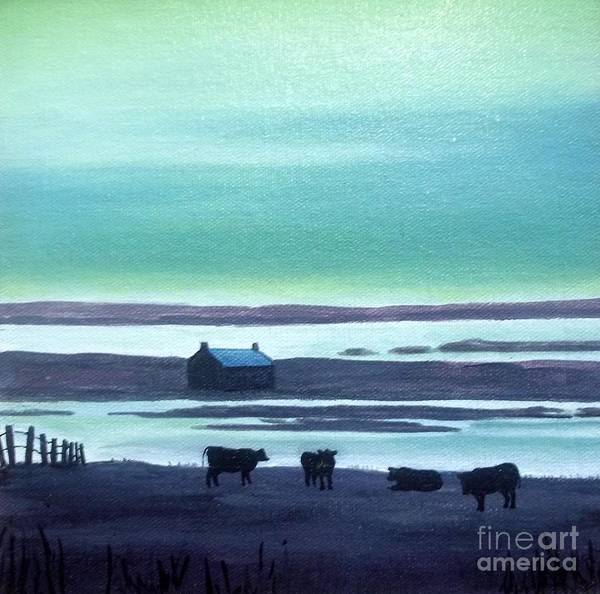 Donegal Painting - Donegal Sheep by Nora Gallagher