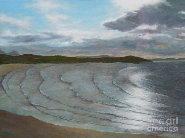 Donegal Painting - Donegal's Shimmering Sea by Phyllis Andrews