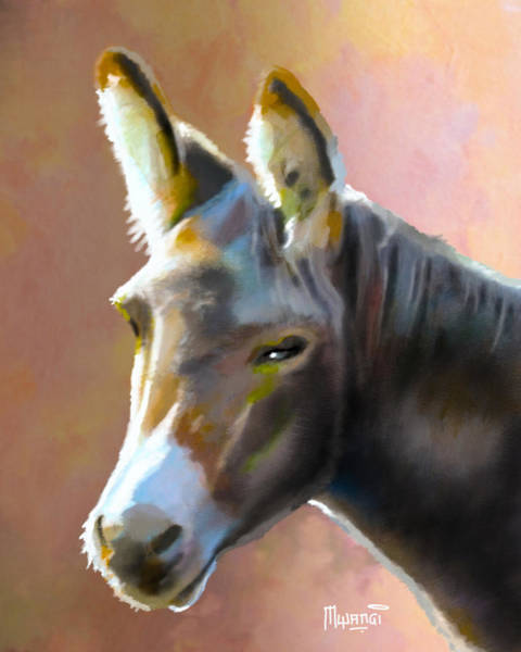 Vertebrate Painting - Donkey Hee-haw by Anthony Mwangi