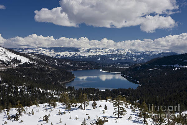 Wall Art - Photograph - Donner Lake Donner Pass With Snow by Jason O Watson