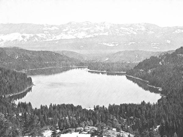 Donner Photograph - Donner Lake Sierra Nevada by Frank Wilson