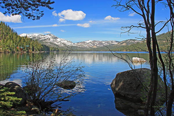 Donner Photograph - Donner Lake Through The Trees by Kathy Yates