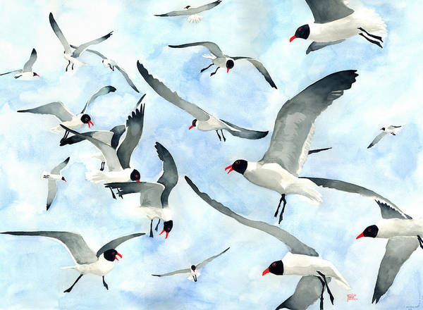 Painting - Don't Feed The Seagulls by Pauline Walsh Jacobson