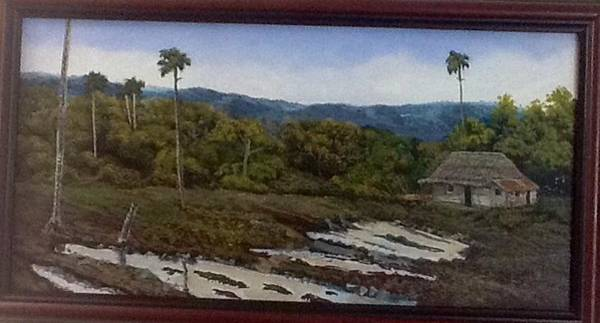 Painting - Dont Feel Like It   Cuban Landscape by Carlos Rodriguez Yorde