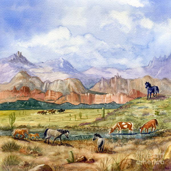 Painting - Don't Fence Me In Part Three by Marilyn Smith
