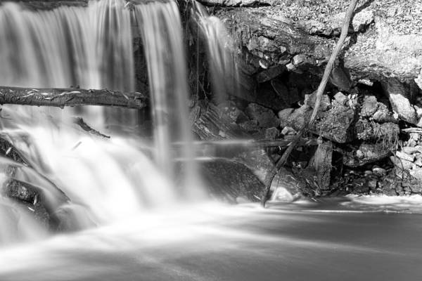 Photograph - Dont Go Chasing Waterfalls 3 In Black And White by James BO Insogna