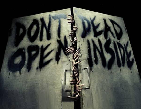 The Walking Dead Painting - Don't Open Dead Inside by Paul Van Scott