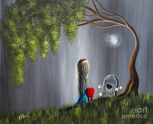 Red Moon Painting - Don't Worry I Won't Let That Happen To You By Shawna Erback by Erback Art