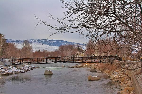 Fantasy Wall Art - Photograph - Dontown Reno Bridge by Tony Castle