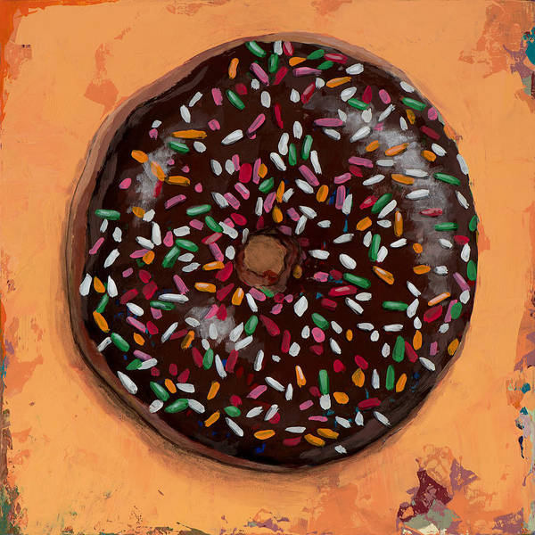 Retro Painting - Donut #2 by David Palmer