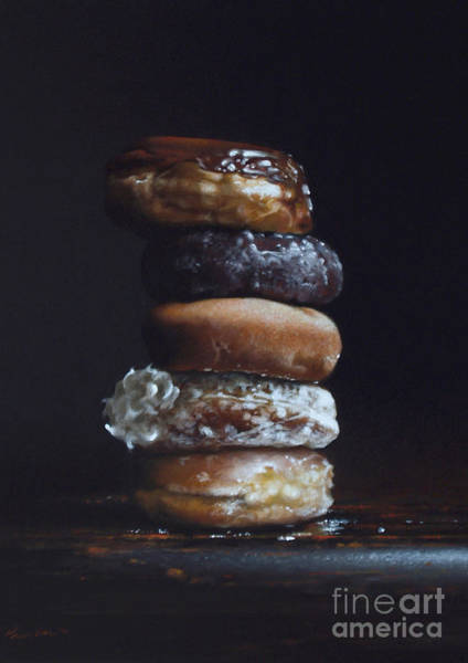 Wall Art - Painting - Donut Tower No.3 by Lawrence Preston