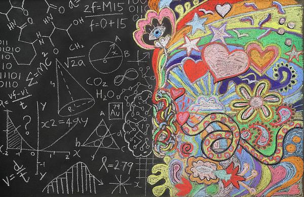 Doodle Photograph - Doodles On A Blackboard by David Malan