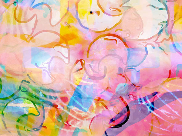 Doodle Painting - Doodles Pink by Lutz Baar
