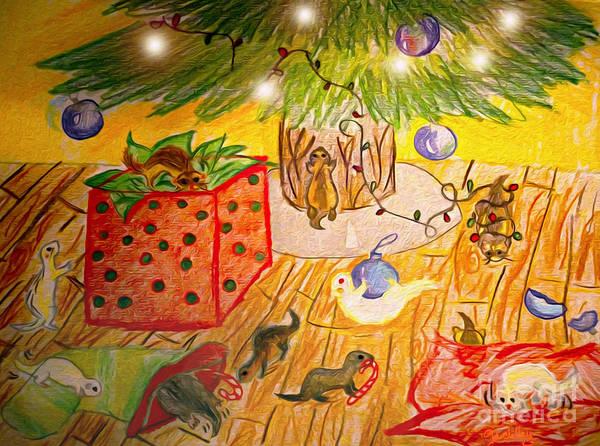 Wall Art - Mixed Media - Dook The Halls by Cassandra Buckley