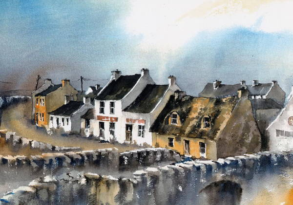 Painting - Clare Doolin Village  by Val Byrne
