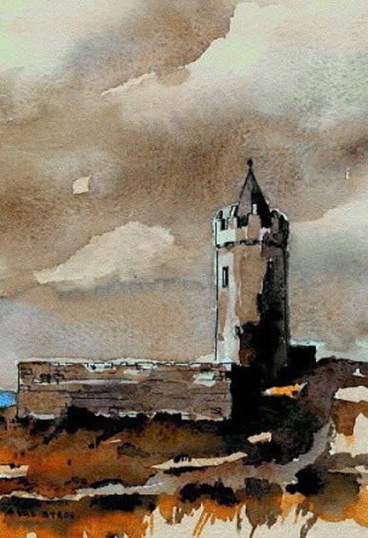Painting - Doonagore Castle  Doolin  Clare by Val Byrne