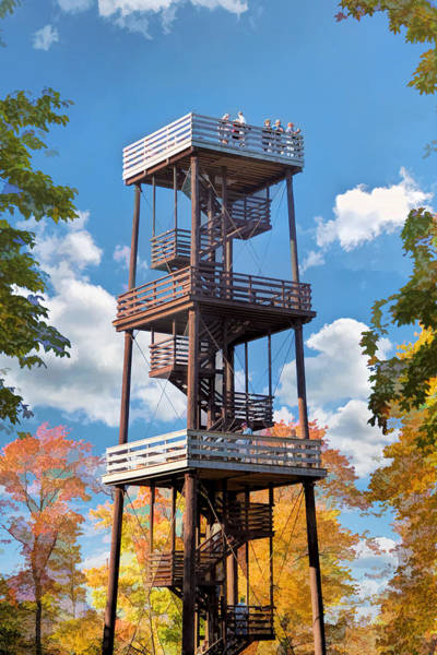 Painting - Door County Eagle Tower Peninsula State Park by Christopher Arndt