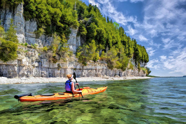 Painting - Door County Kayaking Around Rock Island State Park by Christopher Arndt