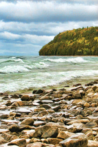 Painting - Door County Porcupine Bay Waves by Christopher Arndt