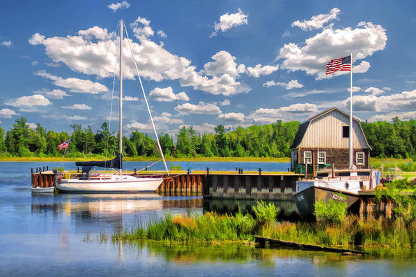 Painting - Door County Washington Island Jackson Harbor by Christopher Arndt