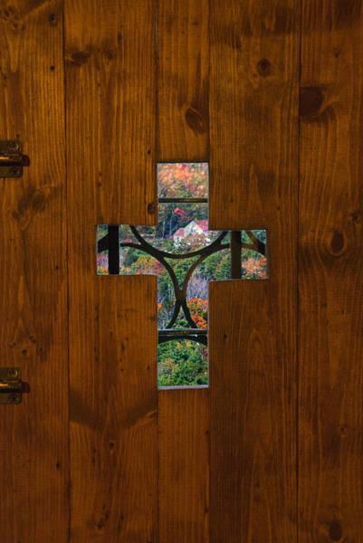 Photograph - Door Cross by Sandy Scharmer