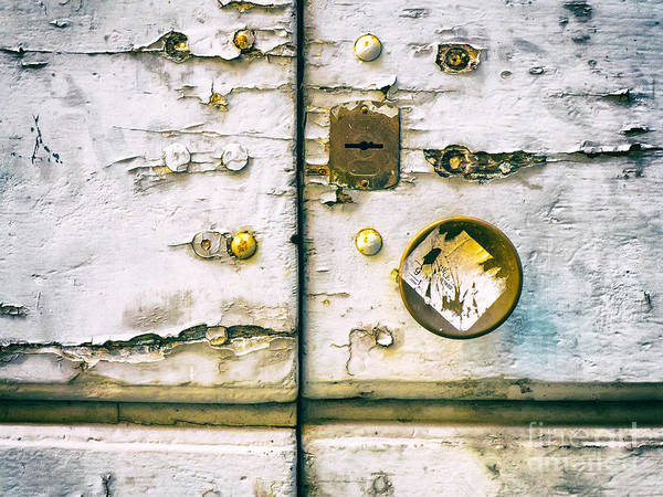 Photograph - Door Detail With Keyhole And Doorknob by Silvia Ganora