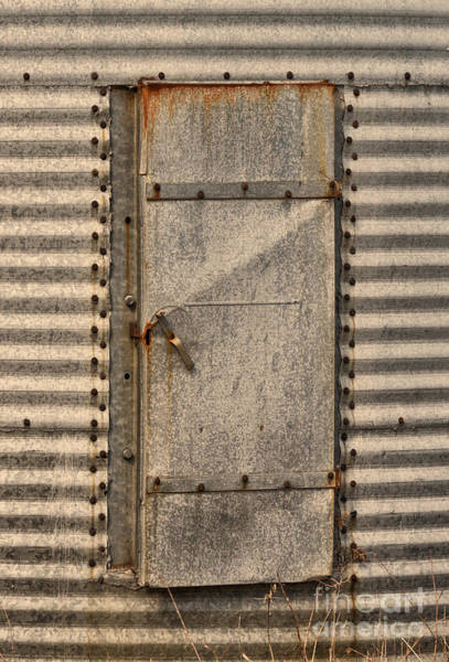 Photograph - Door On An Old Metal Silo by Les Palenik